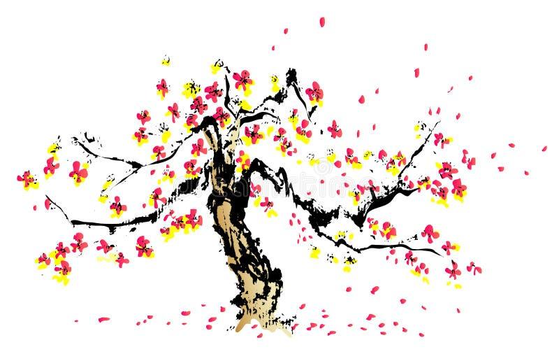 Pintura china de sakura libre illustration
