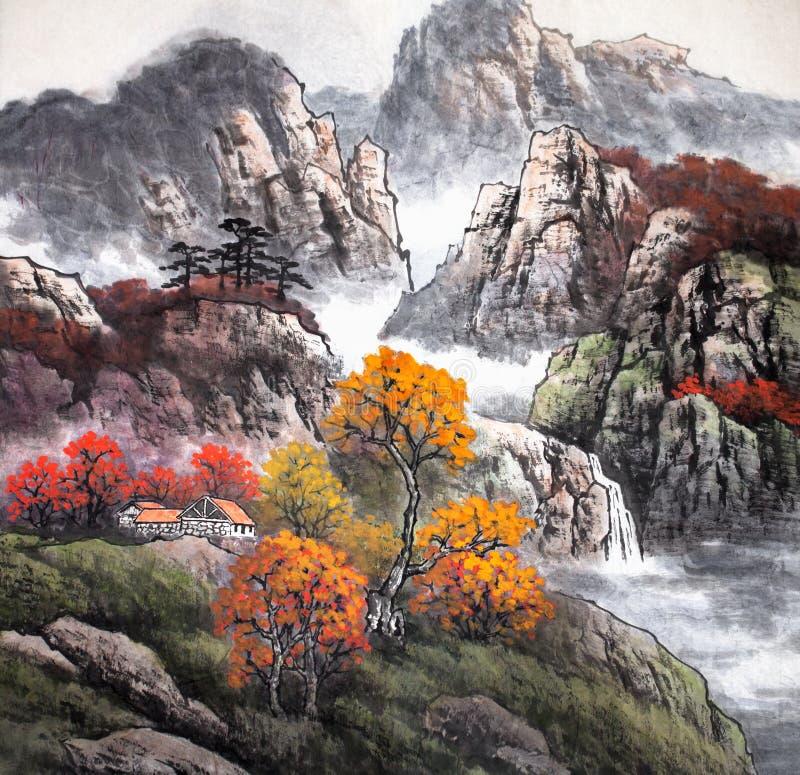 Pintura china tradicional stock de ilustración