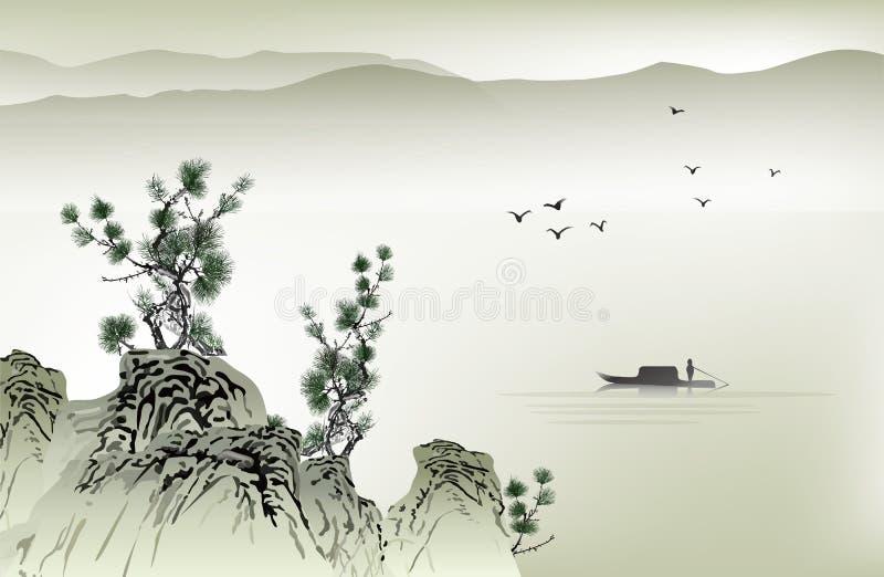 Pintura chinesa ilustração do vetor