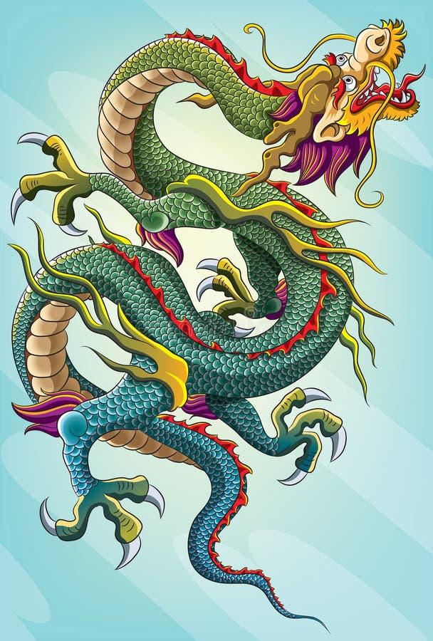 Pintura chinesa do dragão ilustração royalty free