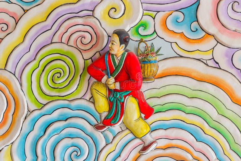 Pintura chinesa do estilo da arte foto de stock