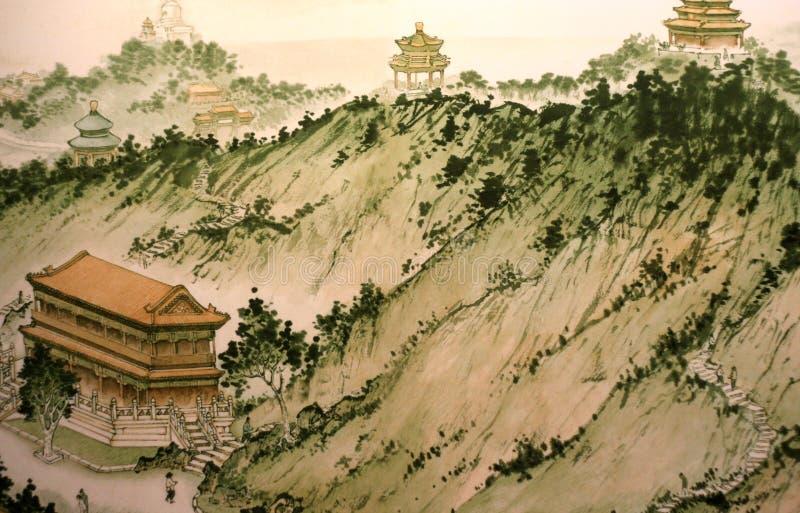 Pintura chinesa tradicional imagem de stock
