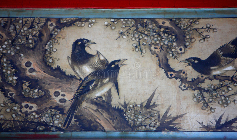 Pintura clássica chinesa ilustração stock