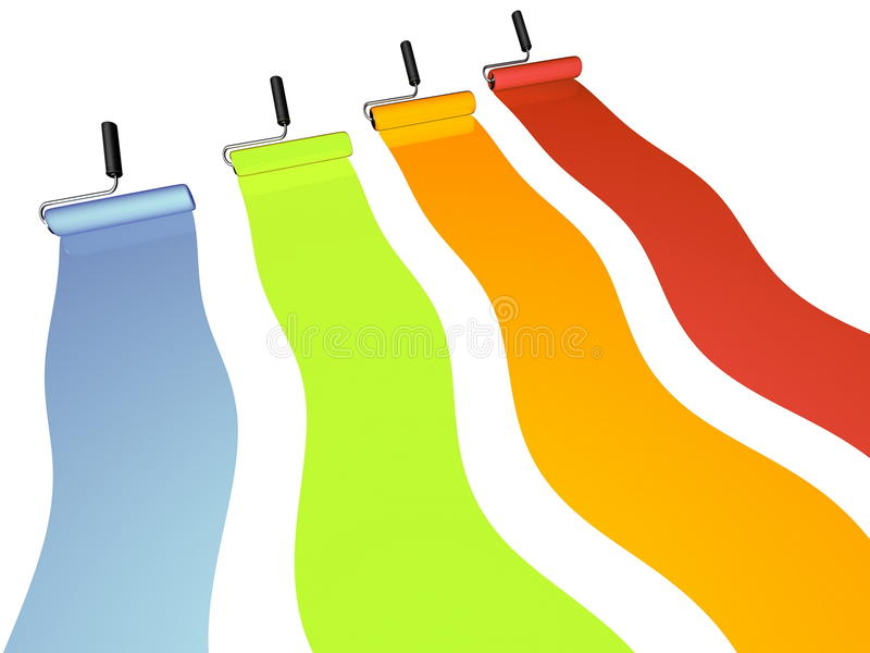 Pintura colorida ilustração stock