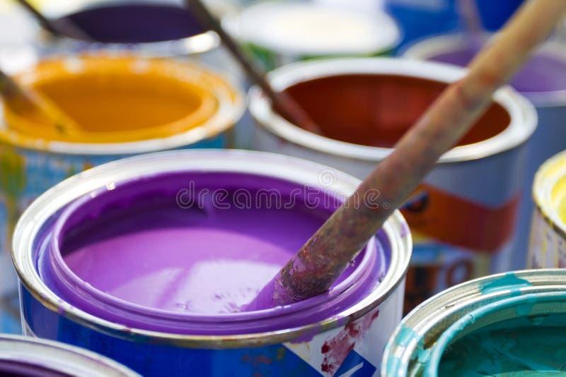 Pintura colorida fotografia de stock royalty free