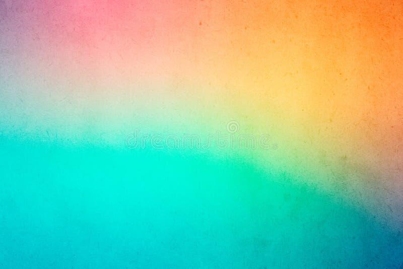 Pintura colorida da aquarela do inclinação no papel velho imagem de stock royalty free