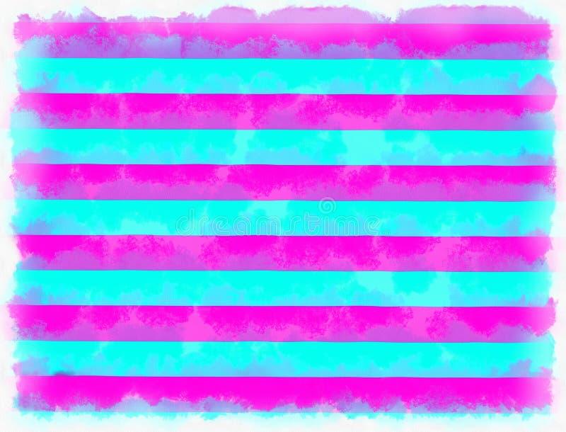 Pintura colorida das listras ilustração do vetor