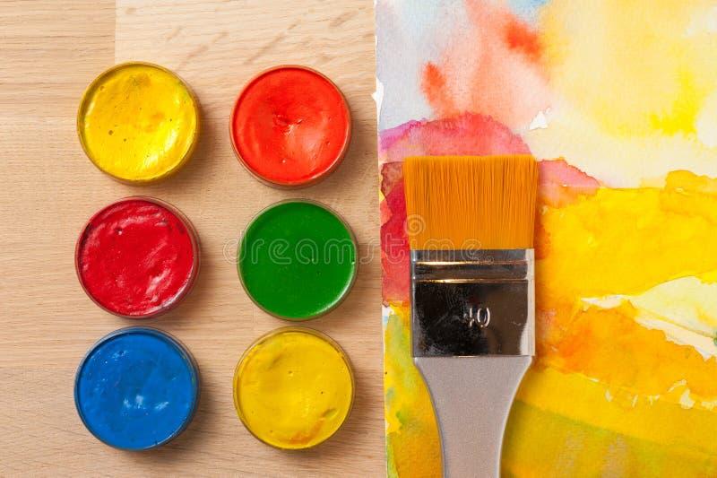 Pintura colorida de la acuarela imagen de archivo
