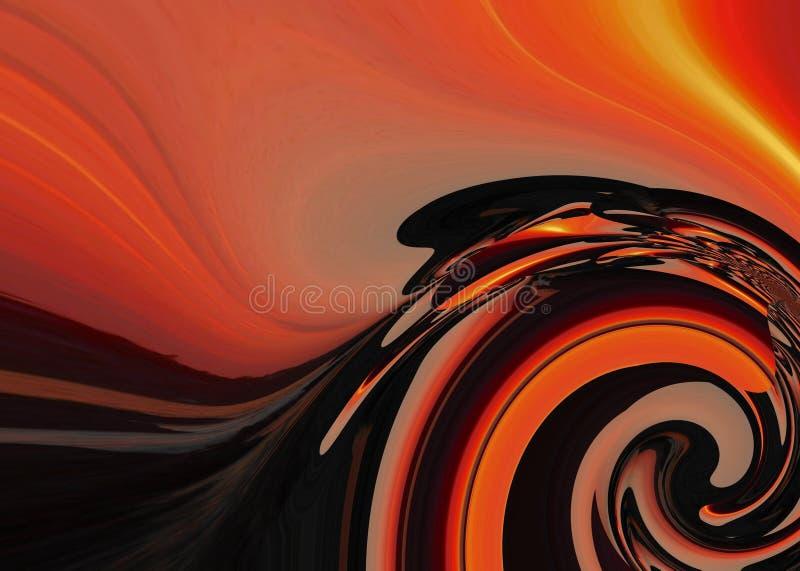 A pintura colorida do sumário da arte do projeto de Grafik representa a arte nova foto de stock royalty free
