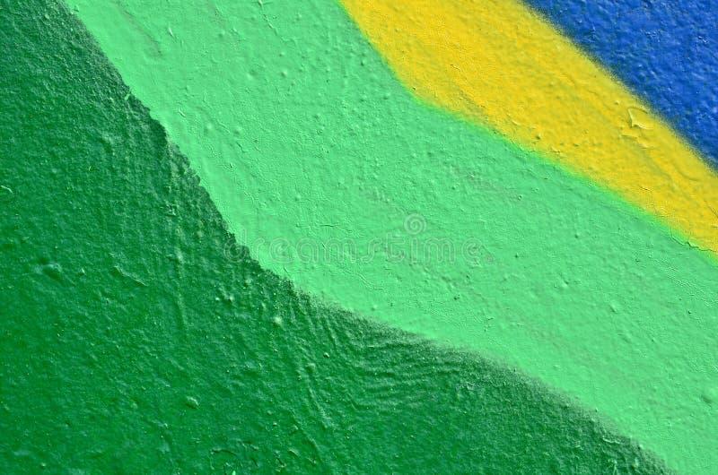 Pintura colorida en la pared imagen de archivo libre de regalías