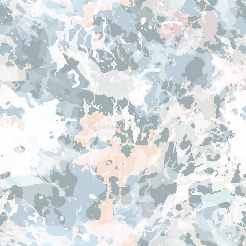 A pintura colorida espirra Teste padrão sem emenda com pontos e divórcios ilustração royalty free