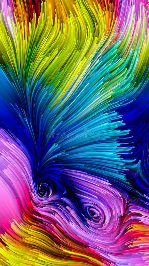 Pintura colorida virtual ilustração royalty free