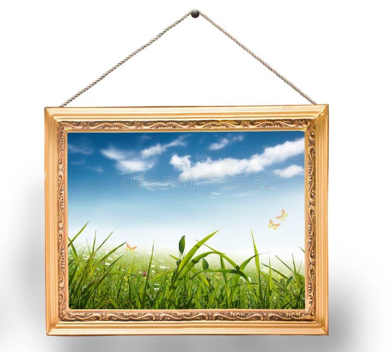Pintura com frame imagens de stock royalty free