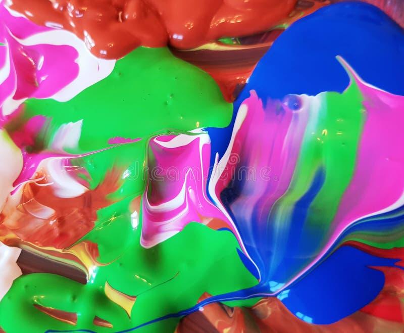 Pintura com várias cores Fundo colorido com tinta foto de stock royalty free
