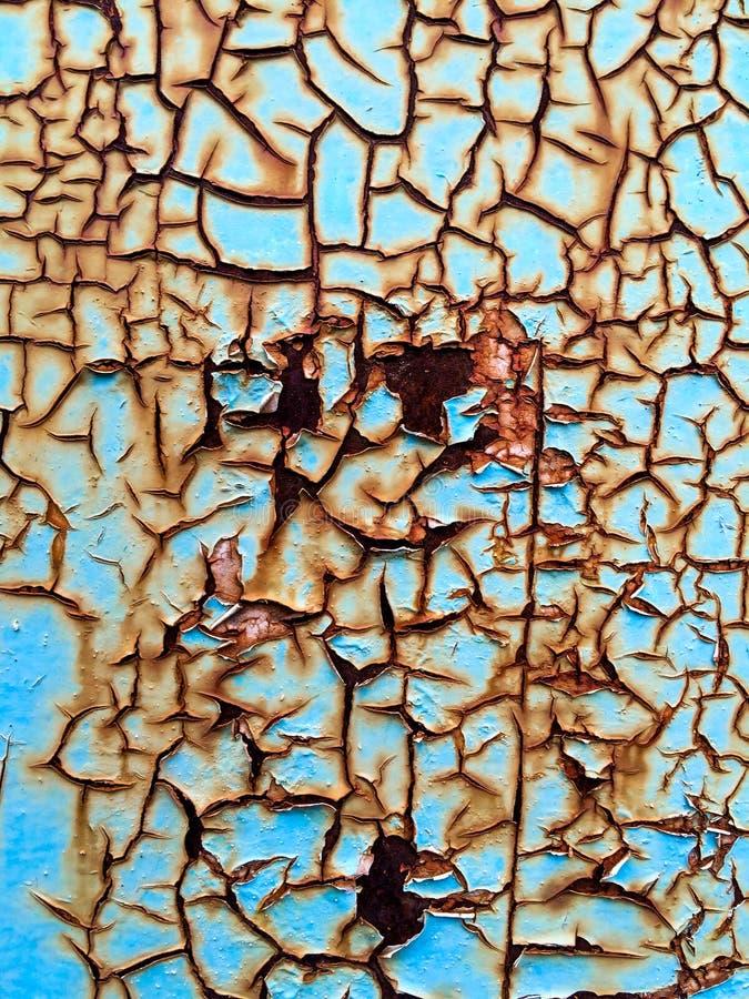 Pintura corroída da oxidação da pintura da oxidação imagens de stock