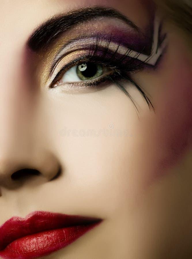 Pintura creativa da face imagens de stock