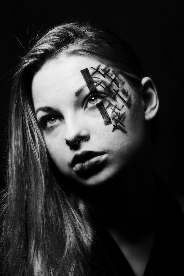 Pintura creativa de la cara imagen de archivo