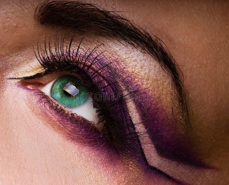 Pintura creativa do olho imagens de stock royalty free