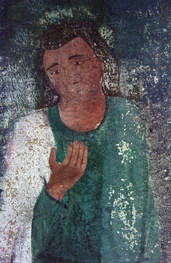 Pintura cristã velha foto de stock royalty free