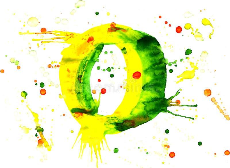 Pintura da aguarela - dígito ilustração royalty free