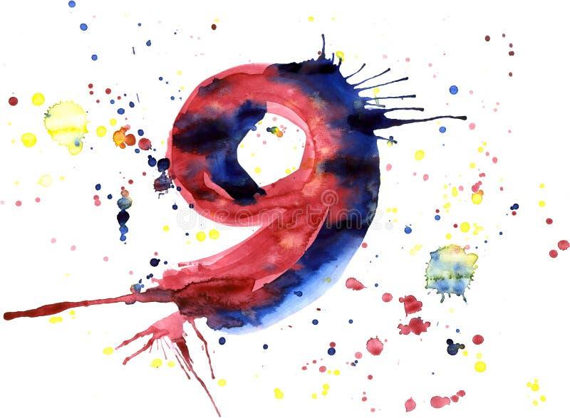 Pintura da aguarela - dígito ilustração stock