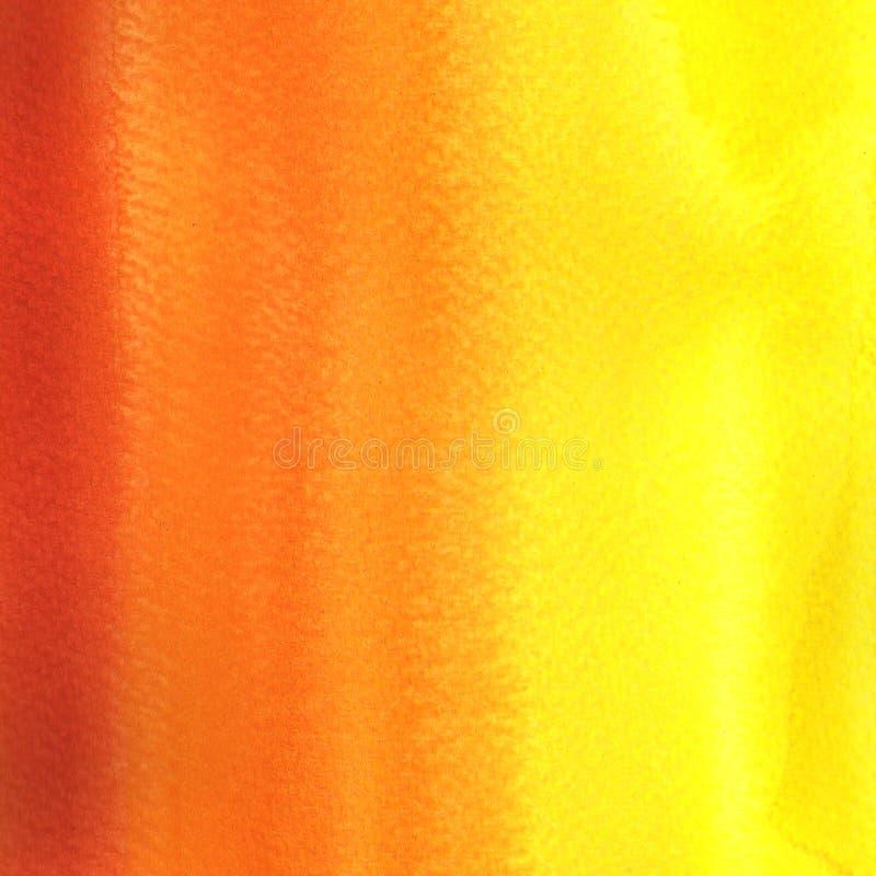 Pintura da aguarela Inclinação amarelo, alaranjado, vermelho fotos de stock