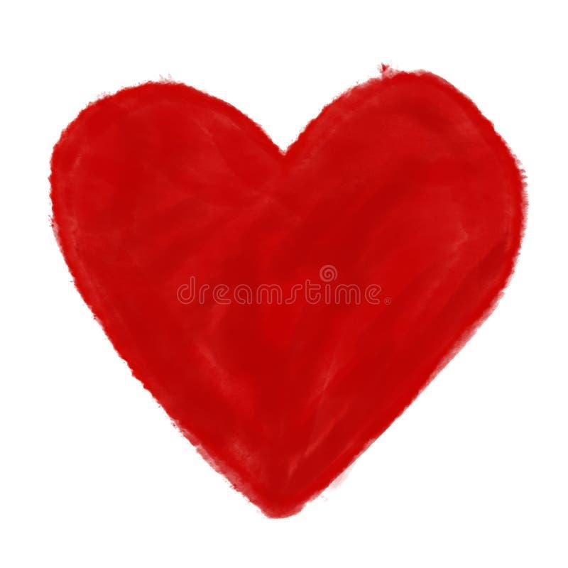 Pintura da aquarela do amor do coração foto de stock royalty free
