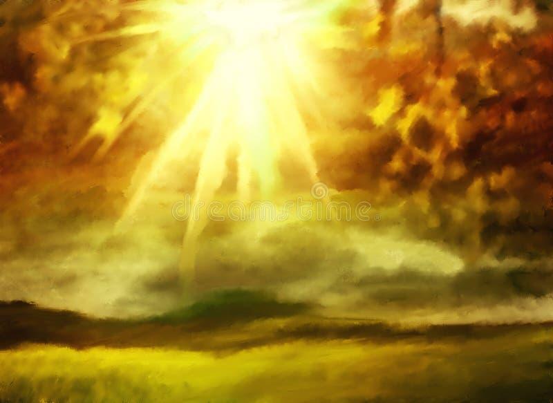Pintura da aquarela do Grunge ilustração stock