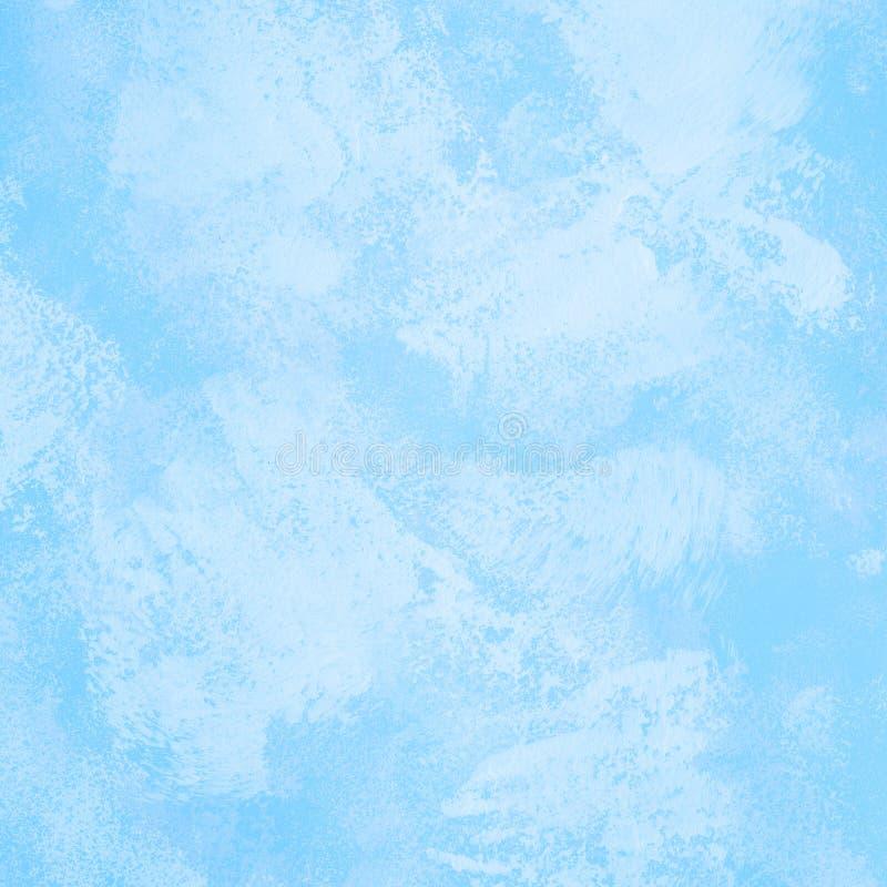 Pintura da arte abstrato na cor do céu azul para o fundo da textura fotografia de stock