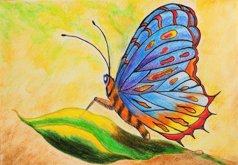 Pintura da borboleta imaginária imagem de stock royalty free