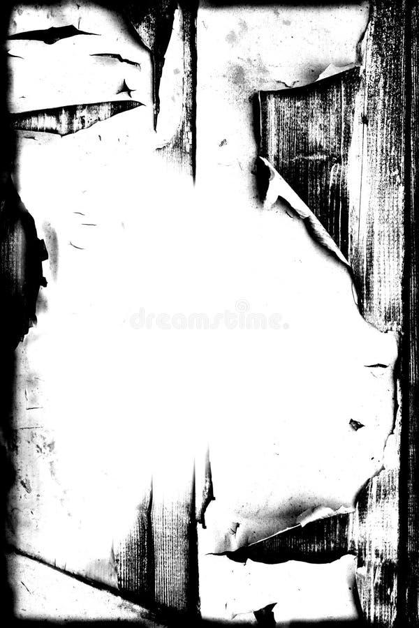 Pintura da casca de Grunge na beira/fundo de madeira ilustração stock