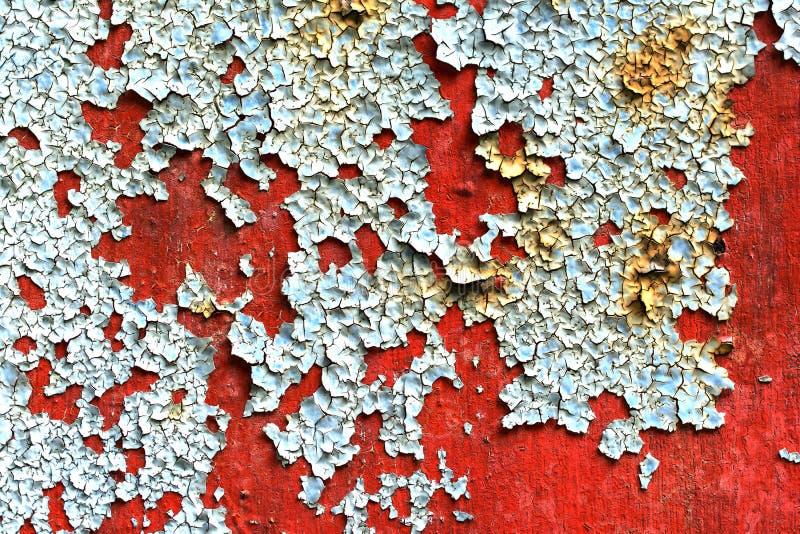 Pintura da casca no metal oxidado imagens de stock