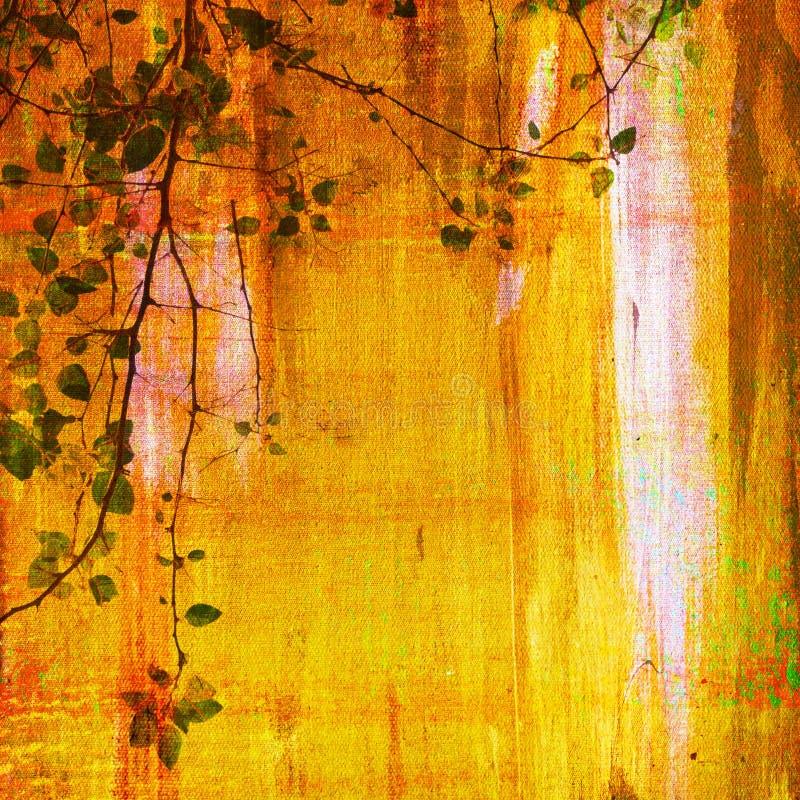 Pintura da copa de árvore imagens de stock royalty free