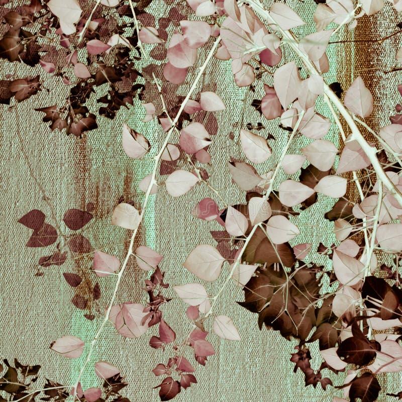 Pintura da copa de árvore ilustração stock