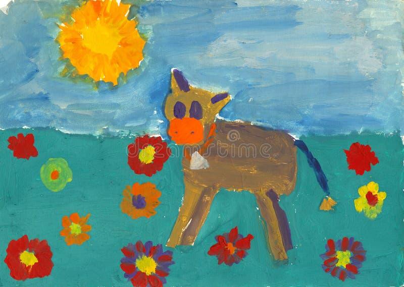 Pintura da criança ilustração royalty free