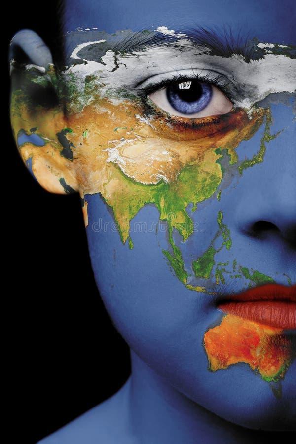 Pintura da face - Ásia imagens de stock royalty free