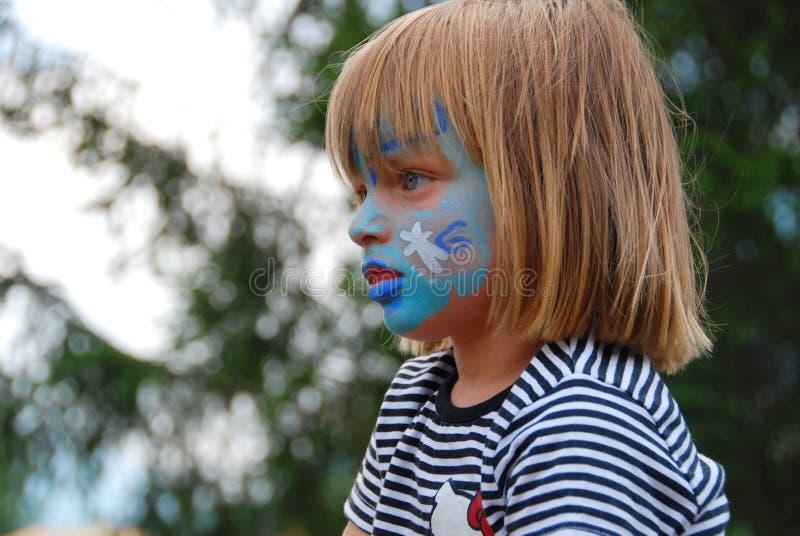 Pintura da face das crianças fotografia de stock