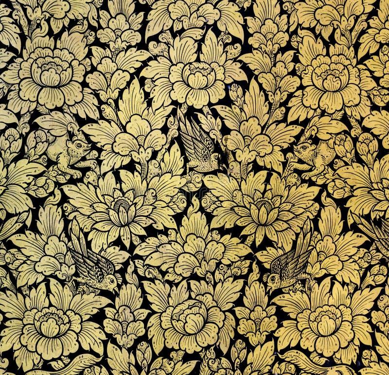 Pintura da folha de ouro fotografia de stock royalty free
