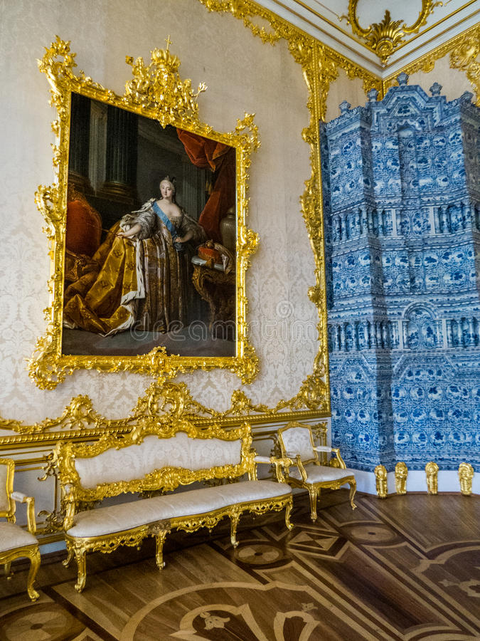 Pintura da imperatriz Catherine The Great imagem de stock