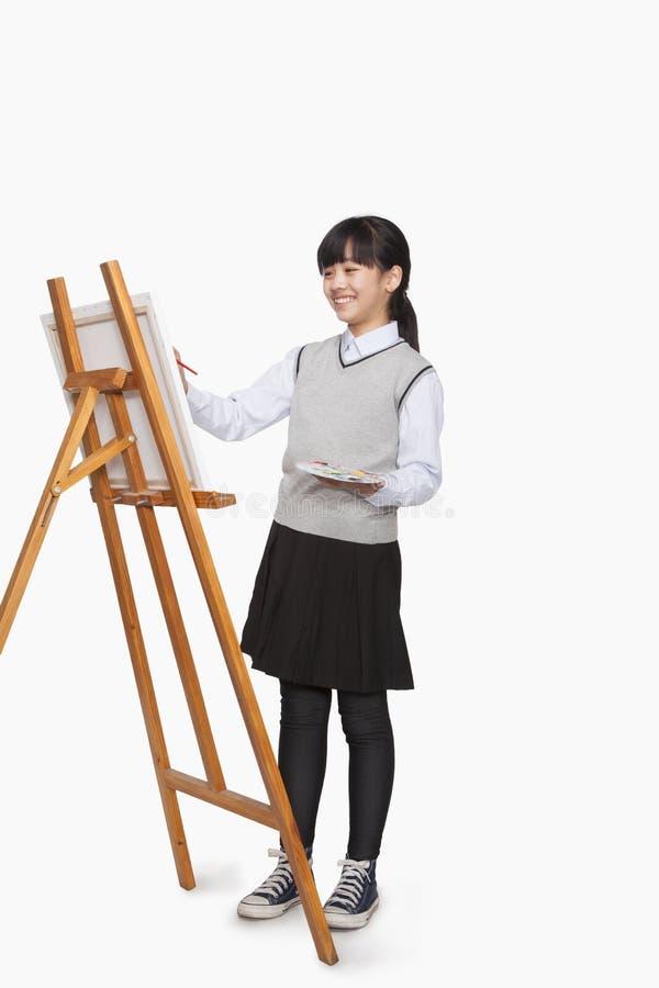 Pintura da menina fotos de stock royalty free