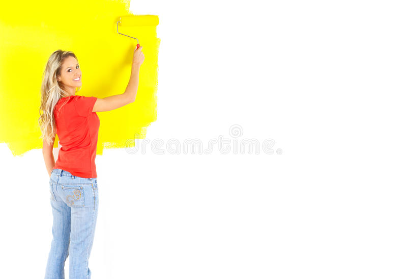 Pintura da mulher fotografia de stock royalty free