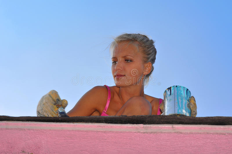 Pintura da mulher imagem de stock royalty free