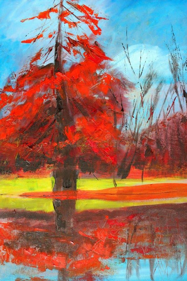 Pintura da natureza. ilustração stock