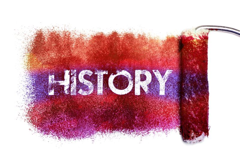 A pintura da palavra da história ilustração royalty free