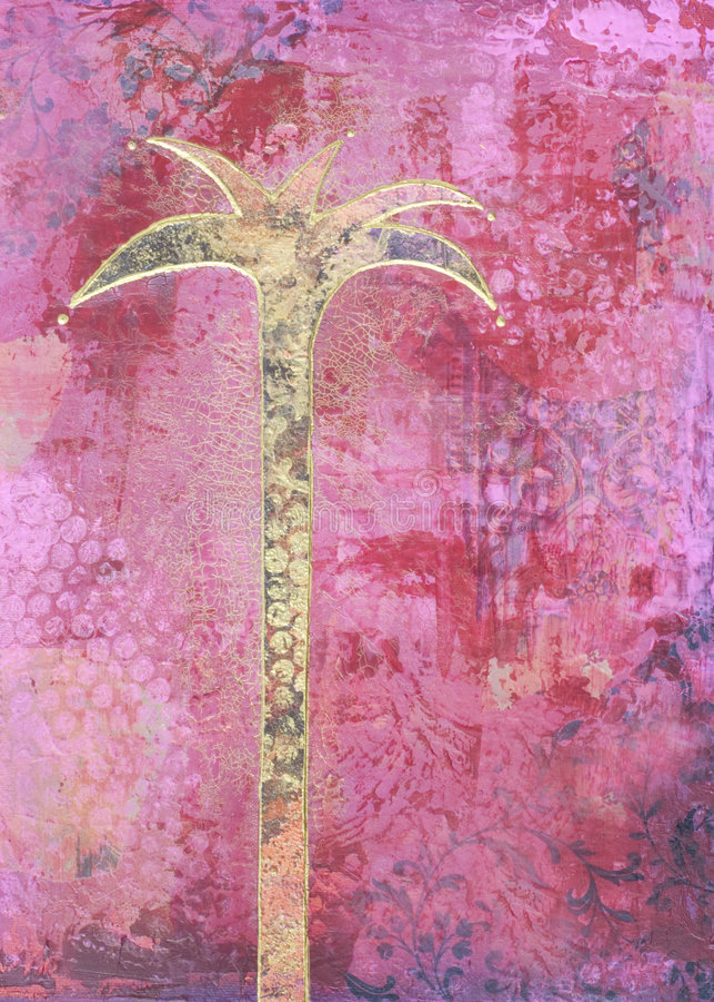 Pintura da palmeira ilustração royalty free