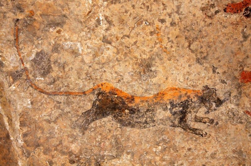 Pintura da rocha dos bosquímanos fotos de stock