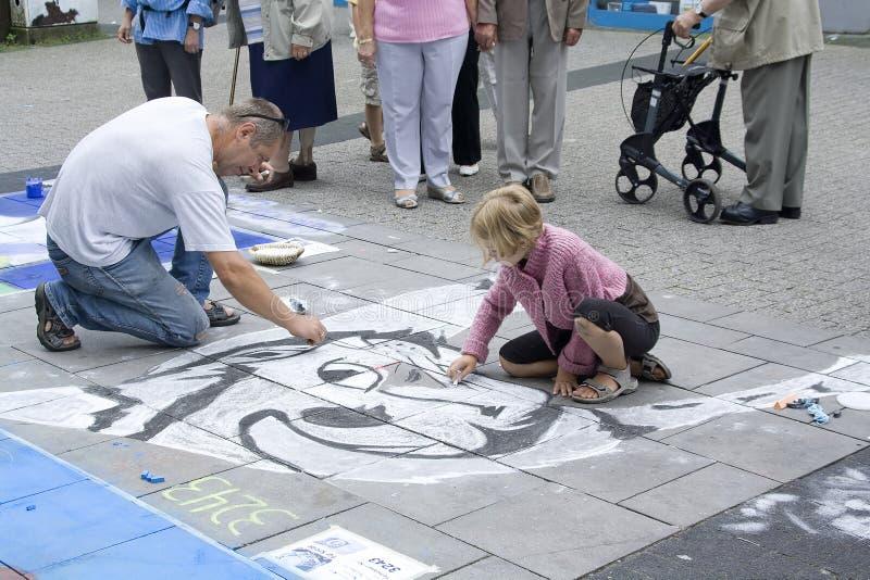 Pintura da rua imagem de stock