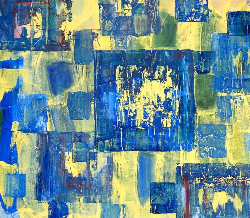 Pintura das cores de petróleo ilustração stock