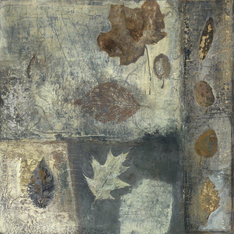 Pintura das folhas ilustração do vetor