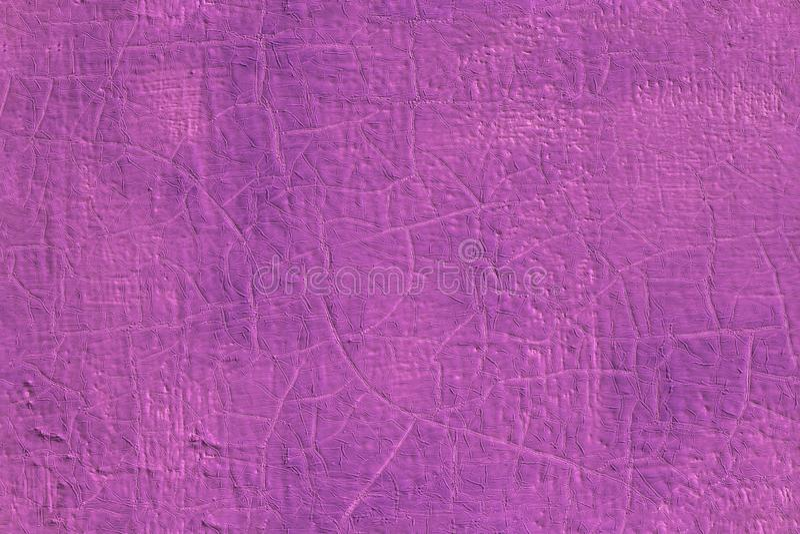Pintura de óleo cor-de-rosa fresca grossa na textura sem emenda de uma superfície de aço plana com quebras velhas sob ela foto de stock
